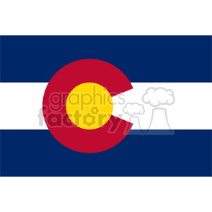 vector state Flag of Colorado clipart. Royalty-free image # 384564