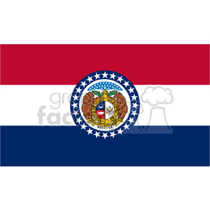 vector state Flag of Missouri clipart. Royalty-free image # 384569