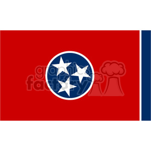 vector state Flag of Tennessee clipart. Royalty-free image # 384574