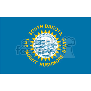 vector state Flag of South Dakota clipart. Royalty-free image # 384579