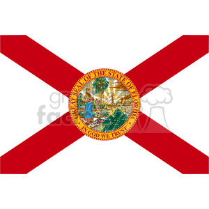 vector state Flag of Florida clipart. Royalty-free image # 384584