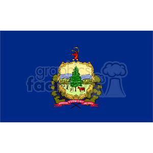 vector state Flag of Vermont clipart. Royalty-free image # 384589