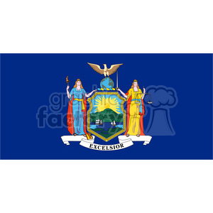 vector state Flag of New York clipart. Royalty-free image # 384594