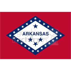 vector state Flag of Arkansas clipart. Commercial use image # 384599
