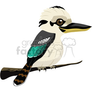 Kookaburra bird clipart. Commercial use image # 384604