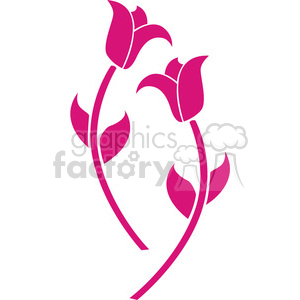 pink vector flowers clipart. Commercial use image # 384614