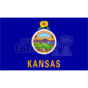 vector state Flag of Kansas clipart. Royalty-free image # 384624