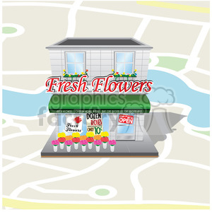 retro flower shop clipart. Commercial use image # 384629