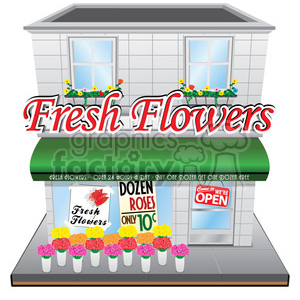 vintage flower shop clipart. Royalty-free image # 384644
