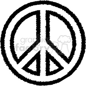 peace outline clipart. Commercial use image # 384649