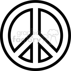 peace symbol outline clipart. Commercial use image # 384664