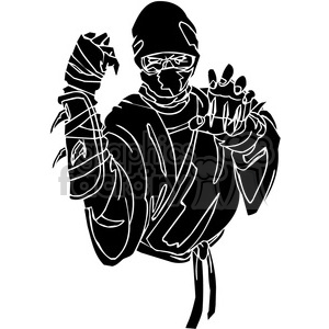 ninja clipart 001 animation. Royalty-free animation # 384669
