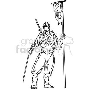 white ninja clip-art 004 clipart. Royalty-free image # 384709