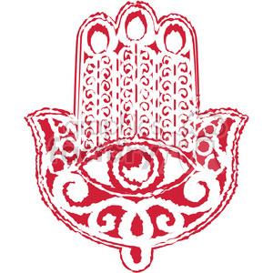 red Hand of Fatima clipart. Commercial use image # 384794