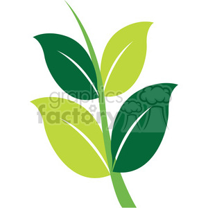 branch with leafs clipart. Royalty-free image # 384814