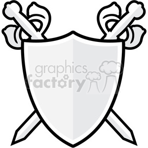 sword and shield 002 clipart. Royalty-free image # 384824