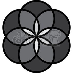 flower symbol 001 clipart. Commercial use image # 384844