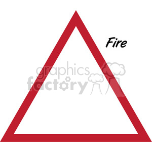 fire symbol clipart. Commercial use image # 384864