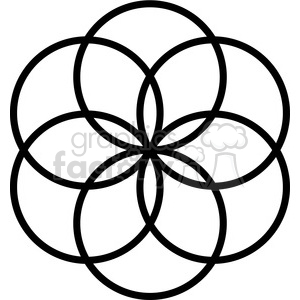 flower symbol 004 clipart. Royalty-free image # 384874