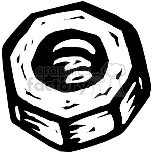 black and white bolt clipart. Royalty-free image # 384906