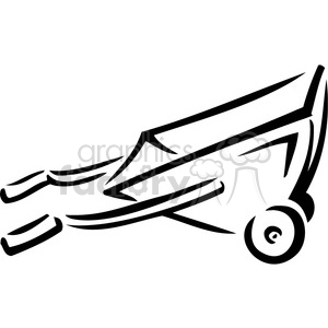 black and white wheelbarrow clipart. Royalty-free image # 384936