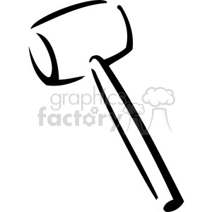 black and white rubber mallet clipart. Royalty-free image # 384976