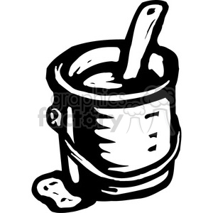 black and white paint can clipart. Commercial use image # 384996