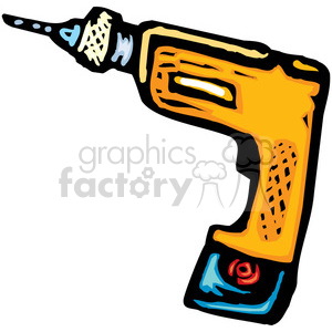 cartoon cordless drill clipart. Royalty-free image # 385036