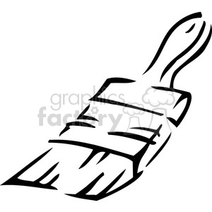 black and white paintbrush clipart. Royalty-free image # 385046