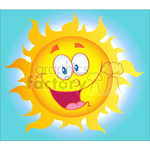 12897 RF Clipart Illustration Happy Sun Cartoon Character clipart. Royalty-free image # 385136
