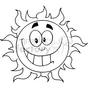 12905 RF Clipart Illustration Happy Sun Cartoon Character clipart. Royalty-free image # 385166