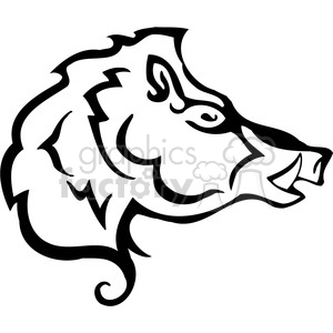 wild boar 087 clipart. Royalty-free image # 385466