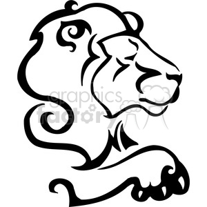 wild lion 089 clipart. Commercial use image # 385486