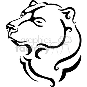 vector black+white animals wild outline vinyl-ready bear brown tattoo
