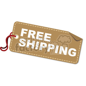 free-shipping-vector-tag-003 clipart. Royalty-free image # 385526