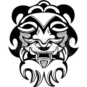 ancient tiki face masks clip art 005 clipart. Royalty-free image # 385841