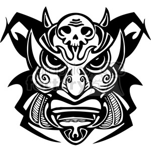 ancient tiki face masks clip art 001 clipart. Royalty-free image # 385850