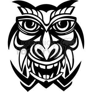 ancient tiki face masks clip art 049 clipart. Royalty-free image # 385859