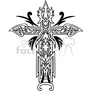 cross clip art tattoo illustrations 017 clipart. Commercial use image # 385867