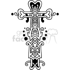 cross clip art tattoo illustrations 042 clipart. Commercial use image # 385877
