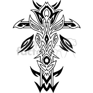 cross clip art tattoo illustrations 030 clipart. Royalty-free image # 385907