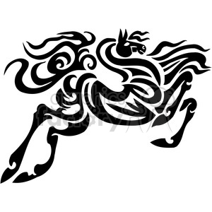 jumping tribal horse art clipart. Royalty-free image # 385919
