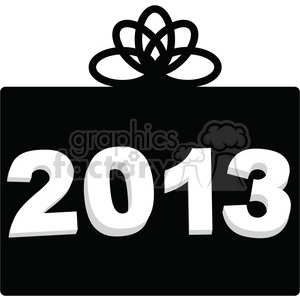 2013 New Year black gift clipart. Royalty-free image # 385979