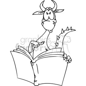 funny cartoon dragons 023 clipart. Royalty-free image # 386001