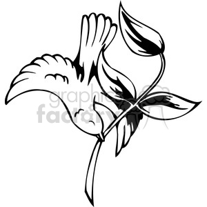 bird with branch clipart. Royalty-free image # 386081