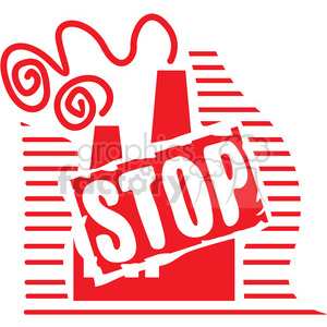 stop factory pollution 054 clipart. Royalty-free image # 386161