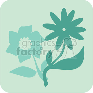 eco flowers 088 clipart. Commercial use image # 386181