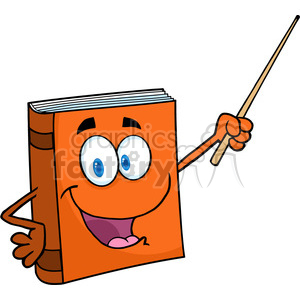 5190-Text-Book-Cartoon-Character-With-A-Pointer-Royalty-Free-RF-Clipart-Image clipart. Commercial use image # 386190