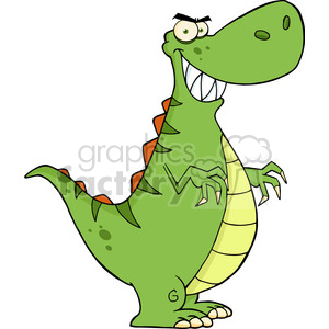 5112-Angry-Dinosaur-Cartoon-Character-Royalty-Free-RF-Clipart-Image clipart. Commercial use image # 386200