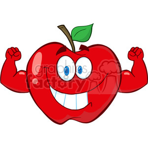 5186-Apple-Cartoon-Mascot-Character-With-Muscle-Arms-Royalty-Free-RF-Clipart-Image clipart. Royalty-free image # 386220